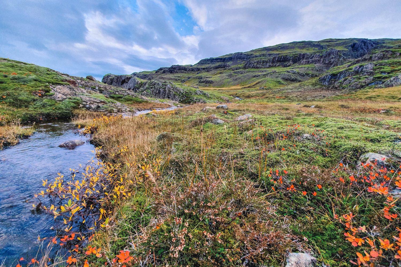 IJsland tijdens het herfstseizoen