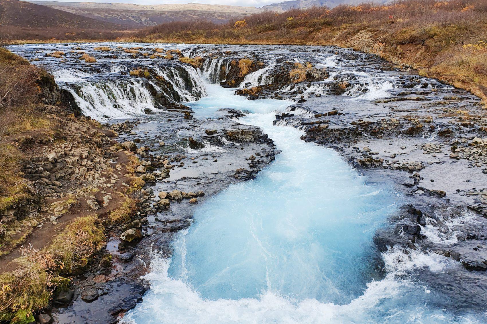 Golden Circle IJsland : Brúarfoss waterval
