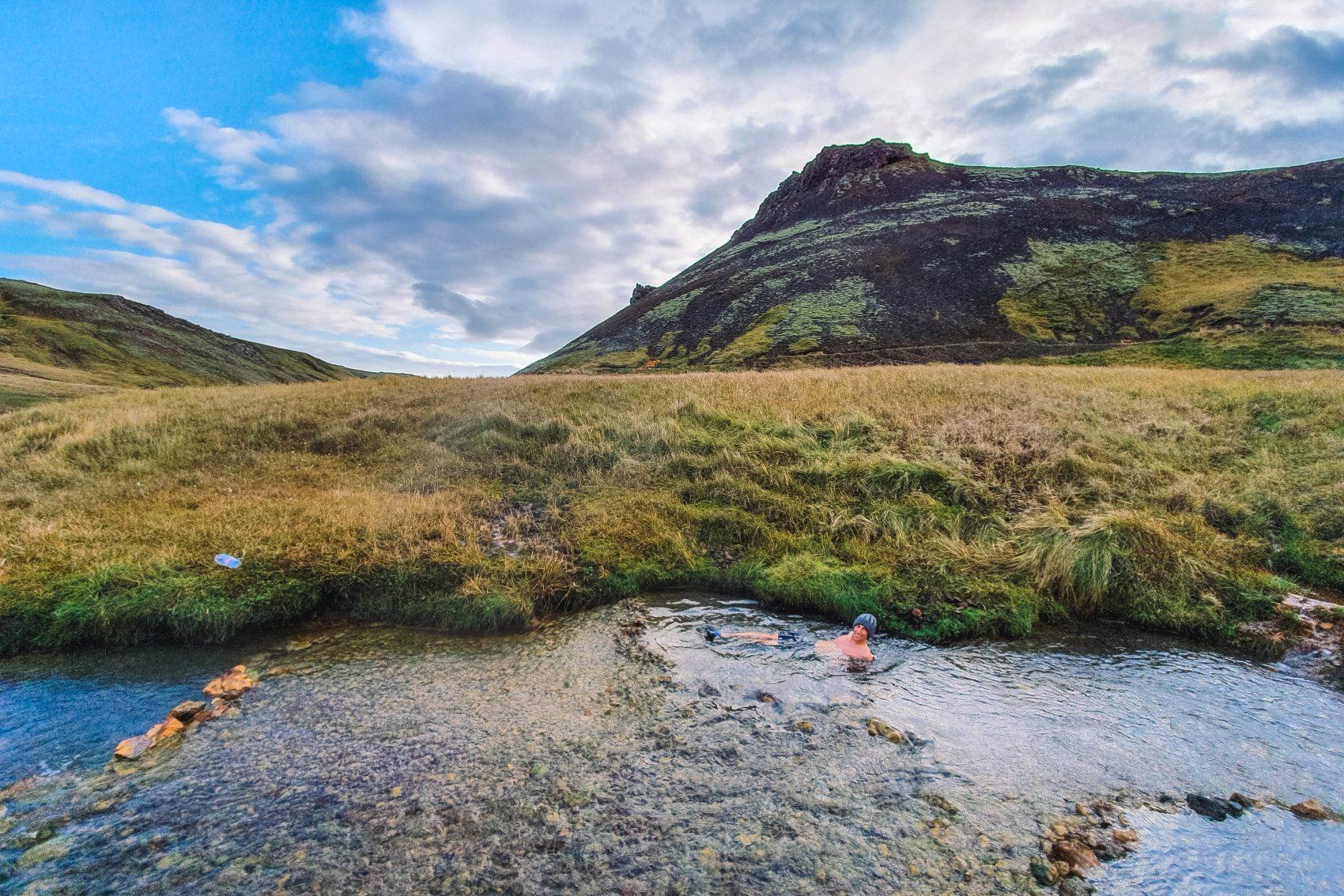 Reykjadalur Hot Springs IJsland